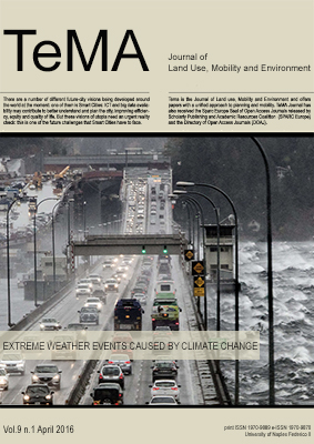 Vol 9, N° 1 (2016): Planning for livable and safe cities: Extreme weather events caused by climate change